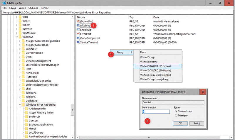 Bez nazwy 1 1 Jak wyłączyć raportowanie błędów w systemie Windows 10
