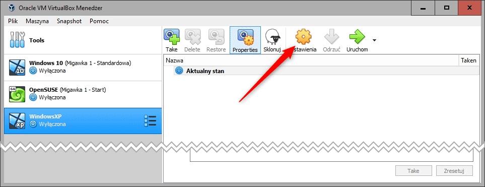 ustawienia Legalny Windows XP na Virtualbox w czterech prostych krokach !