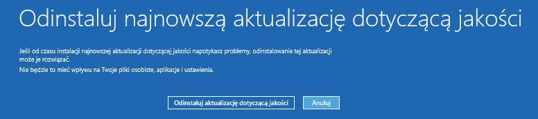 2019 04 25 15h20 16 Jak odinstalować ostatnią aktualizację systemu Windows 10 gdy komputer się nie uruchamia