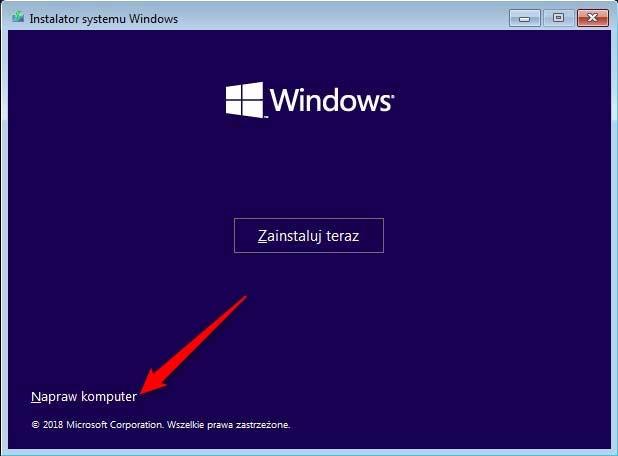 Bez nazwy 1 2 Jak odinstalować ostatnią aktualizację systemu Windows 10 gdy komputer się nie uruchamia