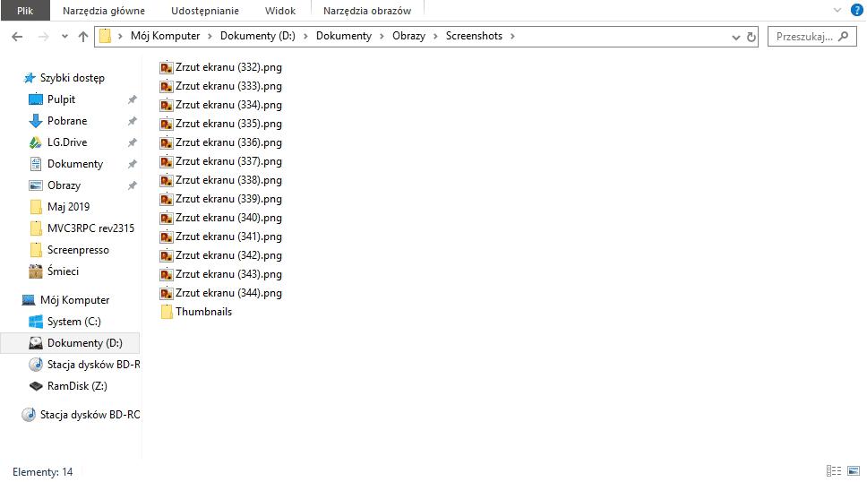 2019 05 06 15h37 11 Resetujemy licznik zrzutów ekranu w Windows 10
