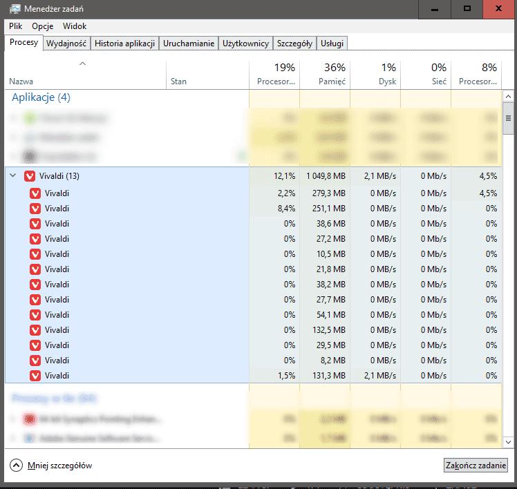 Zrzut ekranu 86 Redukujemy zużycie pamięci RAM przez Google Chrome