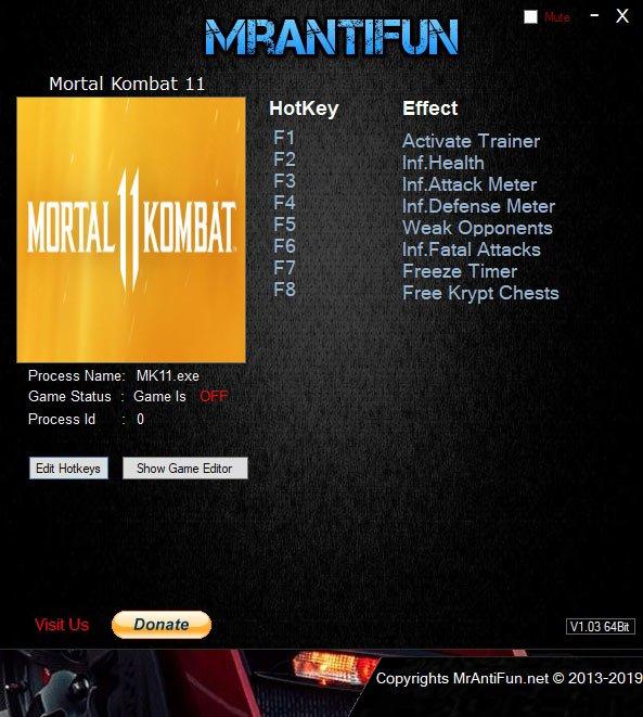 2019 06 12 15h42 14 Mortal Kombat 11 Trainer +7 v1.02 [MrAntiFun]