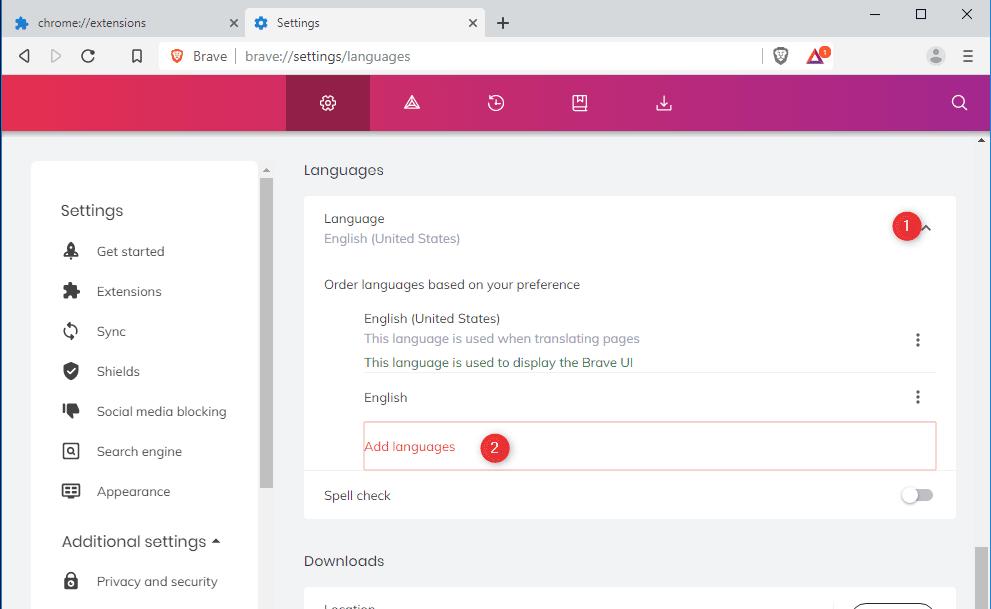 Bez nazwy 3 Instalujemy przeglądarkę Brave po polsku