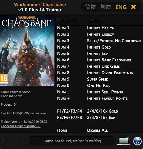 chaosbane Warhammer: Chaosbane – Trainer +14 v1.0 [FLiNG]