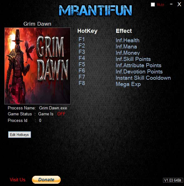 2019 06 20 11h20 20 Grim Dawn: Trainer +8 v1.1.1.2 [MrAntiFun]