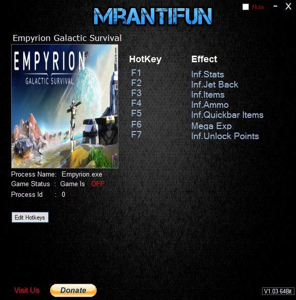 2019 06 21 15h41 16 Empyrion: Galactic Survival – Trainer +7 v10.0.1.2507 [MrAntiFun]