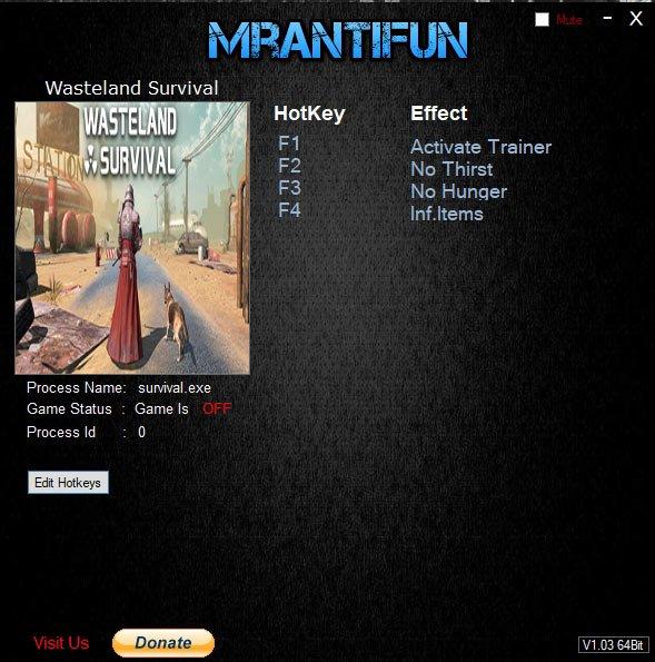 2019 07 04 18h59 28 Wasteland Survival: Trainer +3 v1.0.13 [MrAntiFun]