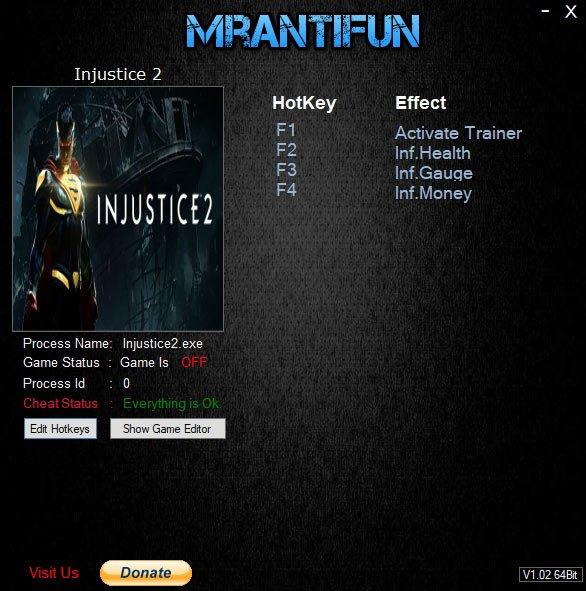 2019 07 05 12h38 22 Injustice 2: Trainer +3 v22.08.2018 [MrAntiFun]