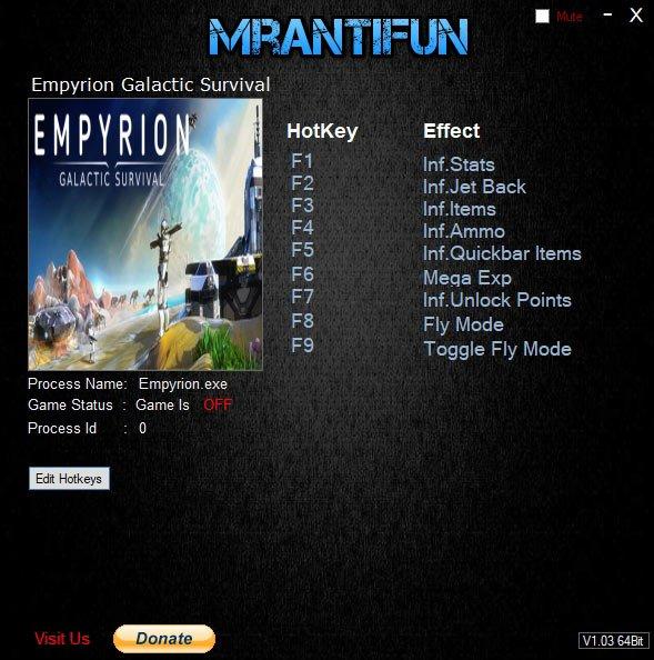 2019 07 14 07h06 16 Empyrion: Galactic Survival   Trainer +8 v10.2.2.2567 [MrAntiFun]