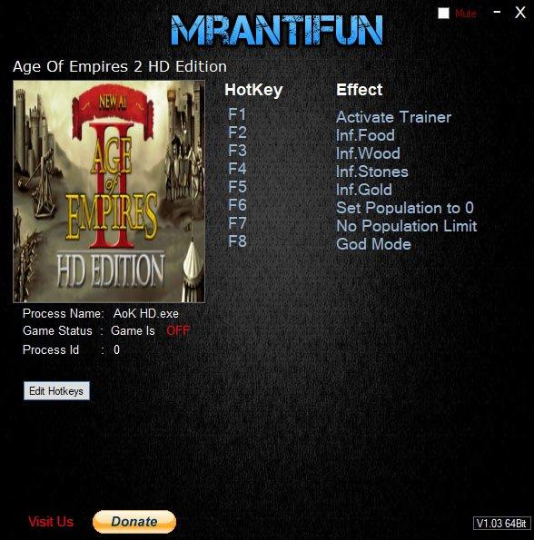 2019 07 14 07h13 50 Age Of Empires 2 HD Edition: Trainer +7 v5.8.3062235 B [MrAntiFun]