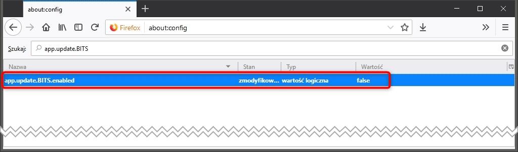Bez nazwy 1 5 Jak wyłączyć aktualizację poprzez BITS w Mozilla Firefox