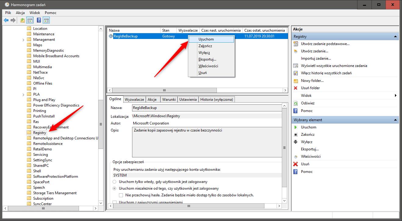qqqqqwszacxz vxc zxc Przywracamy automatyczne tworzenie kopii rejestru przez Windows 10
