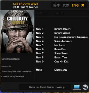 akbmn5 Call of Duty: WWII +9 Trainer [FLiNG]