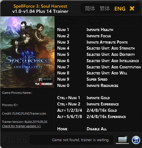 2019 09 30 10h32 31 Spellforce 3: Soul Harvest   Trainer +14 v1.0 v1.04 [FLING]