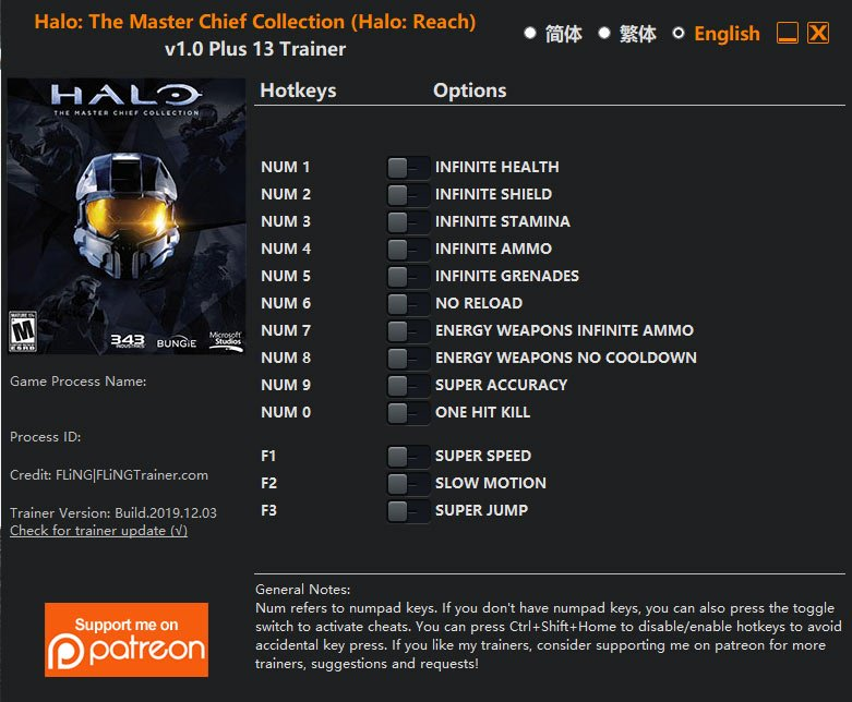 2019 12 08 09h43 53 Halo: The Master Chief Collection   Trainer +13 v1.0 [FLING]