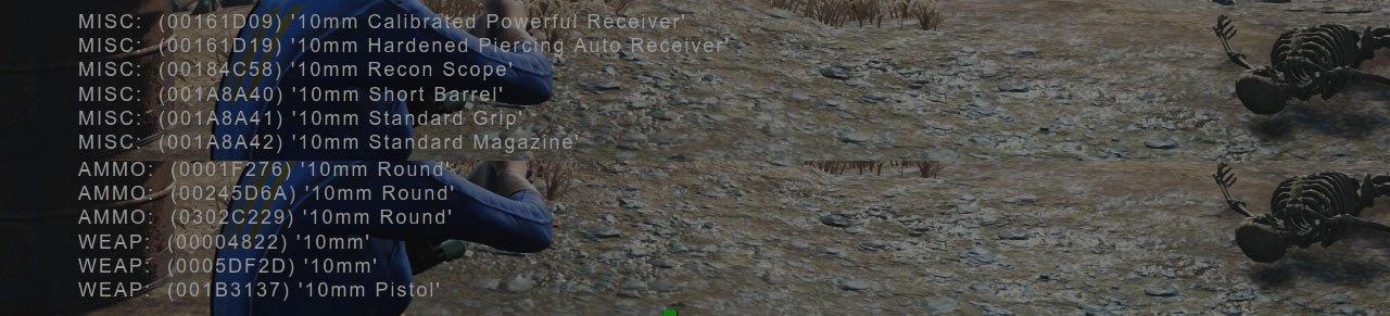 Zrzut ekranu 181 Jak zdobyć BaseID dowolnego przedmiotu w Fallout 4