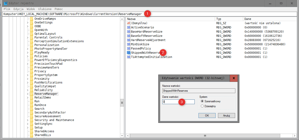 Bez nazwy 2 2 Jak wyłączyć zarezerwowany magazyn w Windows 10