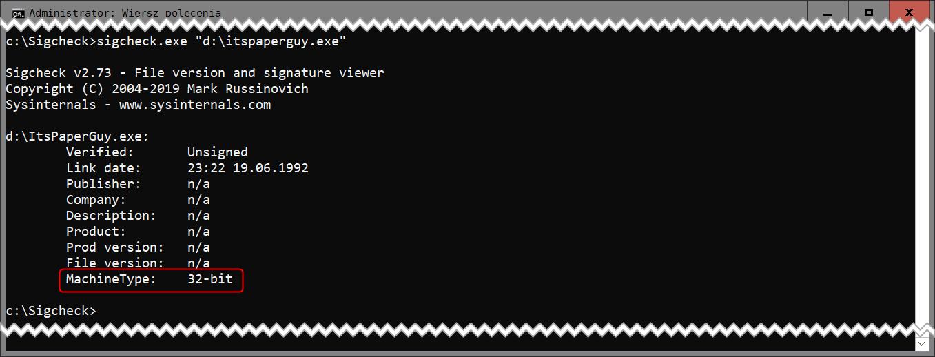 Bez nazwy 2 3 Jak sprawdzić, czy aplikacja jest 32 czy 64 bitowa ?