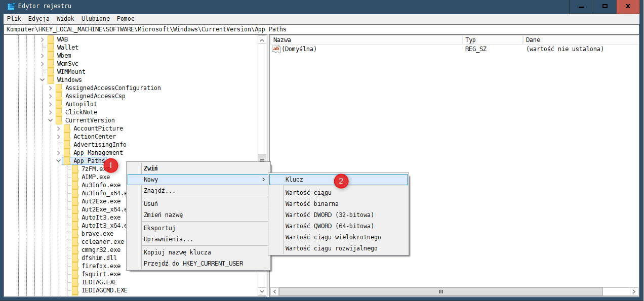 Zrzut ekranu 211 Jak dodać własny program do polecenia Uruchamianie w Windows
