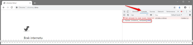 Bez nazwy 2 Jak oszukać w grze T Rex Run w Google Chrome