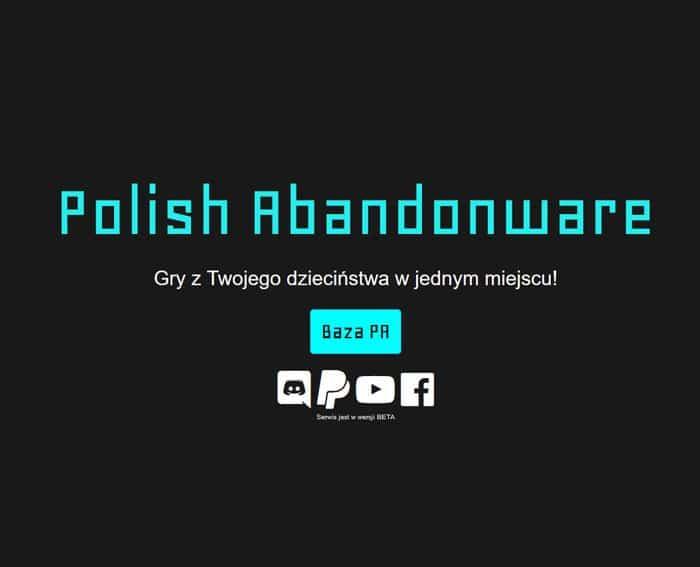 polishabandonware Oto 5 stron z których możecie pobrać stare gry zupełnie za darmo.