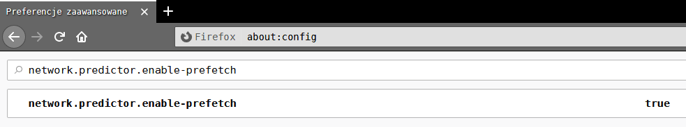 prefetch Przyśpieszamy Firefoxa za pomocą rozszerzenia Faster Pageload