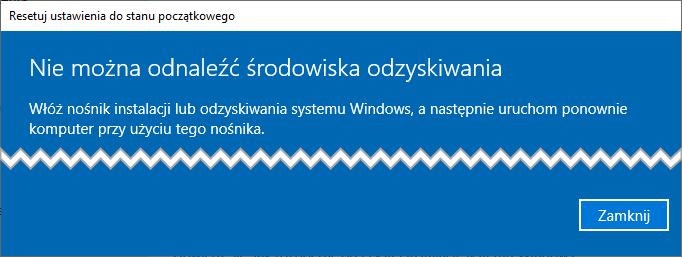 Bez nazwy 5 Jak wyłączyć Środowisko odzyskiwania systemu w Windows 10