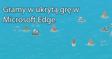 """Gramy w ukrytą grę """"Posurfujmy"""" w Microsoft Edge"""