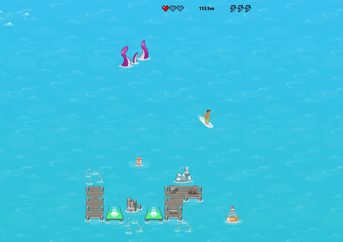 Zrzut ekranu 320 Gramy w ukrytą grę Posurfujmy w Microsoft Edge
