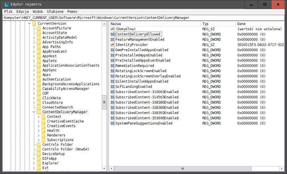 2020 06 11 14h06 41 Jak usunąć polecane aplikacje, sugestie z menu start i innych miejsc systemu Windows 10