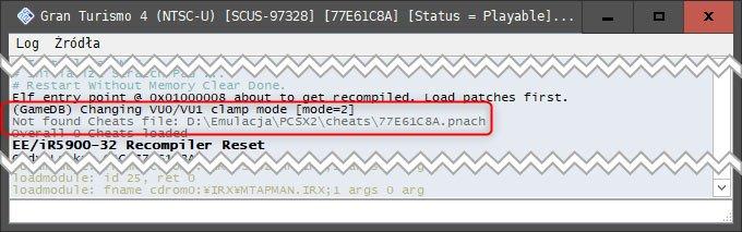 Bez nazwy 2 Jak używać kodów w emulatorze PCSX2