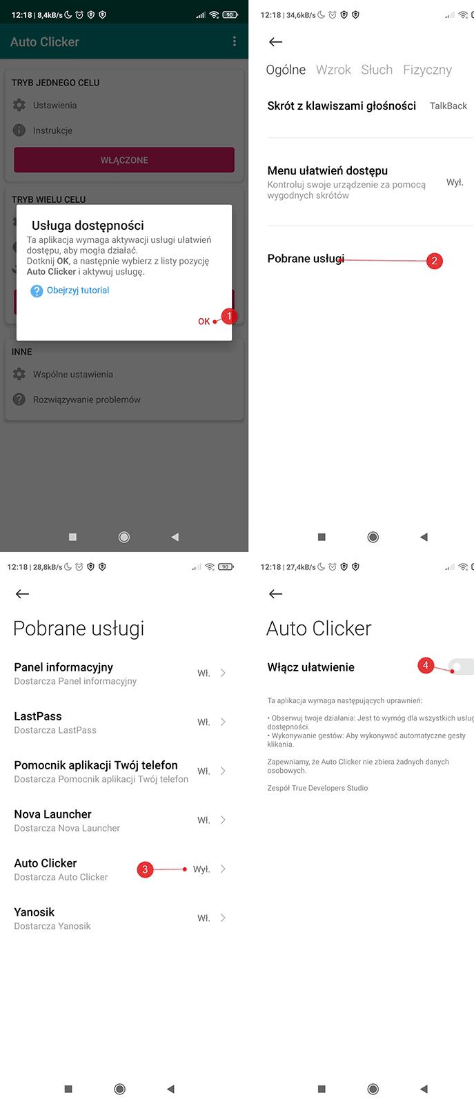 Screenshot 2021 01 27 12 18 19 619 com.truedevelopersstudio.automatictap.autoclicker kopia Jak stworzyć prosty auto clicker w Androidzie