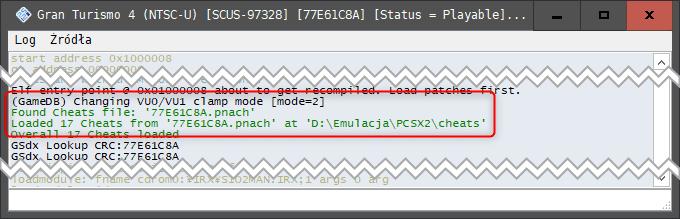gotowy Jak używać kodów w emulatorze PCSX2