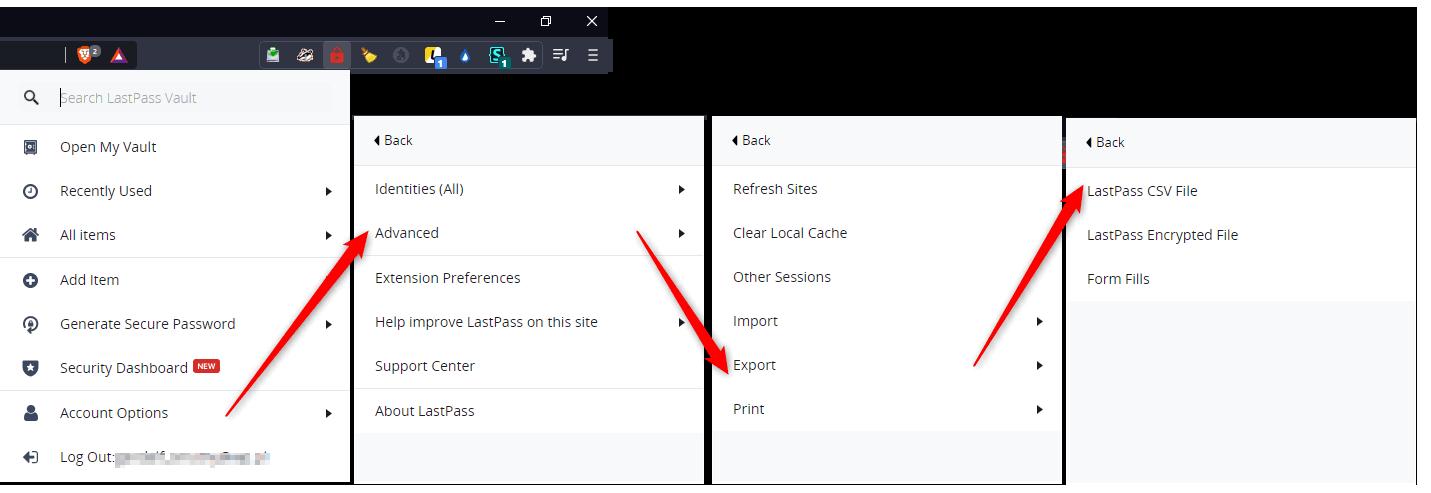 Bez nazwy 1 5 Jak wyeksportować hasła z LastPass do przeglądarki Chrome/Firefox ?